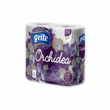 "Бумага туалетная ""ORCHIDEA"", 3 слоя, 4 рулона, 21.25 м"