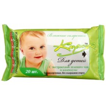 Салфетки влажные детские «Капризка», 20 шт., «Зеленый чай и календула»