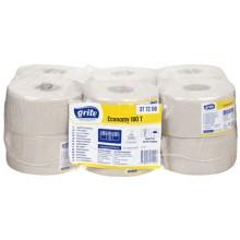 Бумага туалетная Grite Economy, 12 рулонов, ширина 100 мм, серая, 180 м. намотки