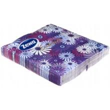 Салфетки сервировочные Zewa Exclusive, 32×33 см, 20 шт., «Фиолетовые цветы»
