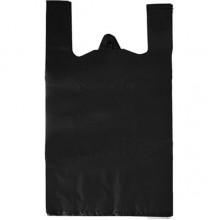 Пакет-майка, 29+14×55 см, 18 мкм, черная